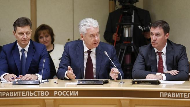 Мэр Москвы Сергей Собянин на заседании президиума Совета при Президенте Российской Федерации по стратегическому развитию и национальным проектам
