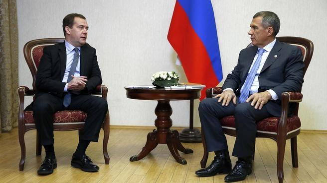 Рабочая встреча с Президентом Республики Татарстан Рустамом Миннихановым