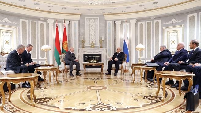 Meeting with President of Belarus Alexander Lukashenko