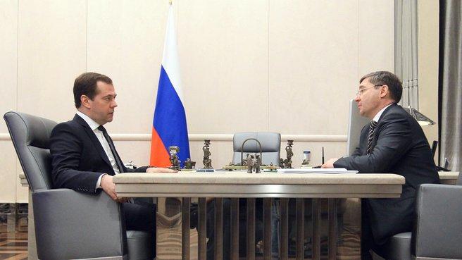 Рабочая встреча с губернатором Тюменской области Владимиром Якушевым