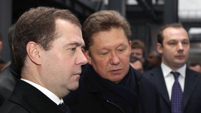 Председатель Правительства Дмитрий Медведев и глава ОАО «Газпром» Алексей Миллер