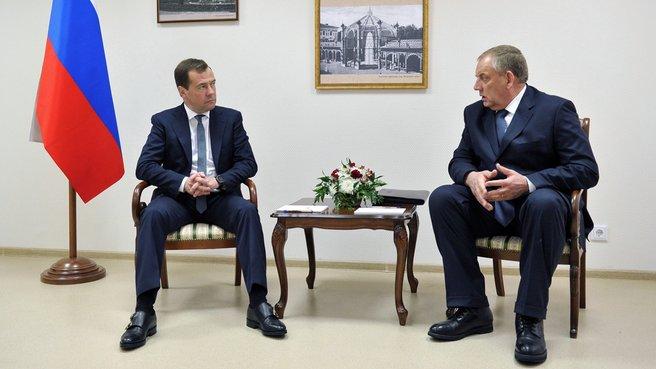 Беседа с губернатором Новгородской области Сергеем Митиным