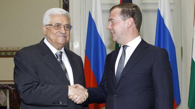 Встреча с Президентом Государства Палестина Махмудом Аббасом