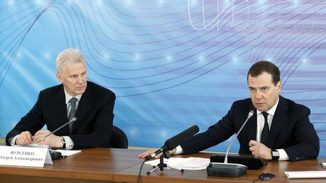 Prime Minister Dmitry Medvedev and Presidential Aide Andrei Fursenko