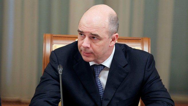 Глава Минфина Антон Силуанов на заседании Правительства