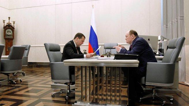 Рабочая встреча с губернатором Пензенской области Василием Бочкарёвым