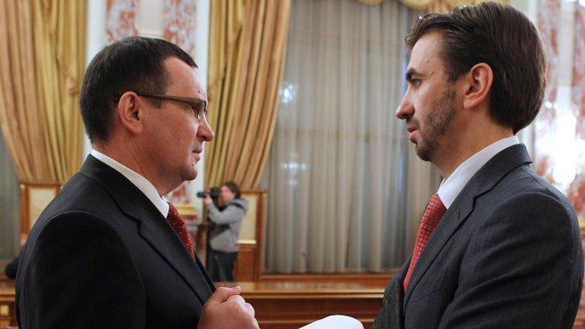 Министр сельского хозяйства Николай Фёдоров и Министр Михаил Абызов
