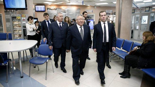 Посещение многофункционального центра предоставления государственных и муниципальных услуг в Якутии