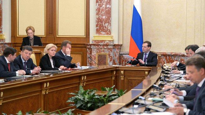 Доклад Министра здравоохранения Вероники Скворцовой на заседании Правительства