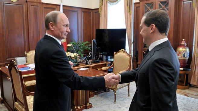 Рабочая встреча с Президентом России Владимиром Путиным