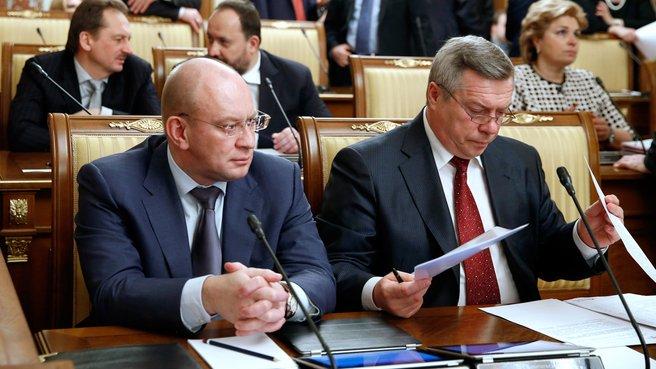 Губернатор Ненецкого автономного округа Игорь Фёдоров и губернатор Ростовской области Василий Голубев