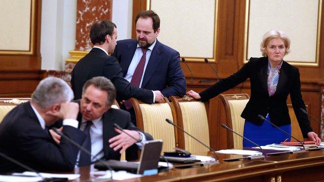 Владимир Колокольцев, Виталий Мутко, Аркадий Дворкович, Сергей Донской и Ольга Голодец