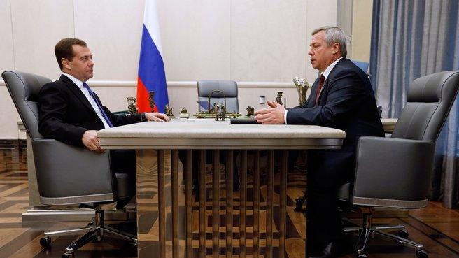 Рабочая встреча с губернатором Ростовской области Василием Голубевым