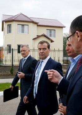 С губернатором Рязанской области Олегом Ковалёвым и главой Минсельхоза Николаем Фёдоровым