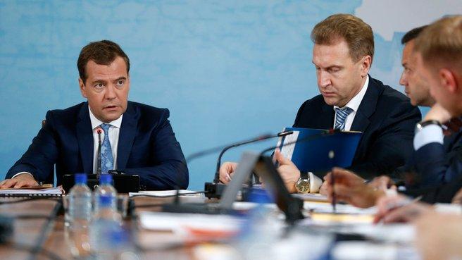 Заседание президиума Совета при Президенте Российской Федерации по реализации приоритетных национальных проектов и демографической политике