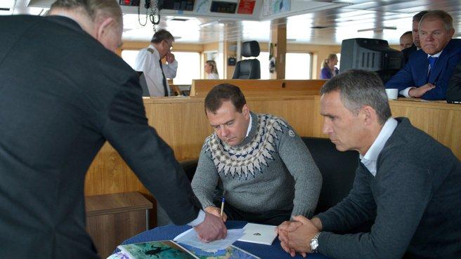 С Премьер-министром Норвегии Йенсом Столтенбергом