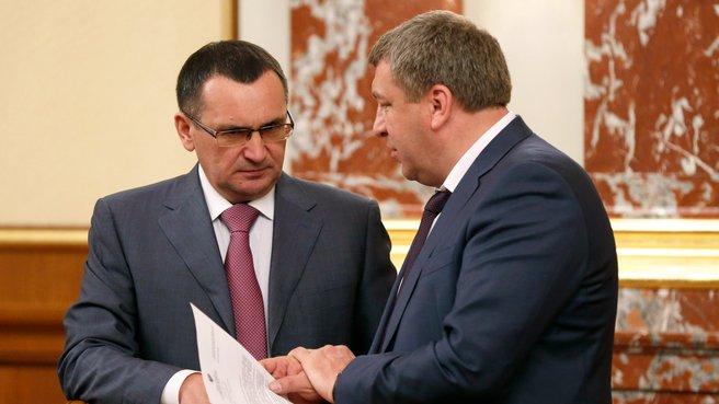 Глава Минсельхоза Николай Фёдоров и глава Минрегиона Игорь Слюняев