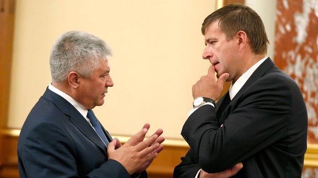 Глава МВД Владимир Колокольцев и глава Минюста Александр Коновалов