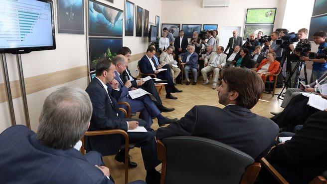 Встреча с членами Экспертного совета при Правительстве о повышении эффективности охраны окружающей среды