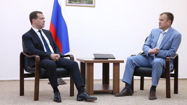 Беседа с губернатором Иркутской области Сергеем Ерощенко