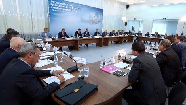 Совещание о реализации приоритетных инвестиционных проектов в лесопромышленном комплексе