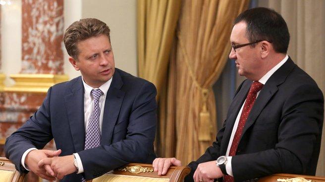 Глава Минтранса Максим Соколов и глава Минсельхоза Николай Фёдоров