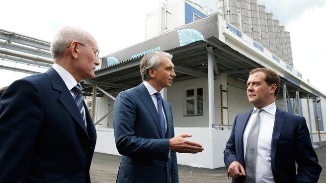 С президентом Республики Башкортостан Рустэмом Хамитовым и генеральным директором ОАО «Газпром нефть» Александром Дюковым