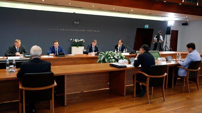 Заседание Совета по повышению конкурентоспособности ведущих университетов Российской Федерации среди ведущих мировых научно-образовательных центров