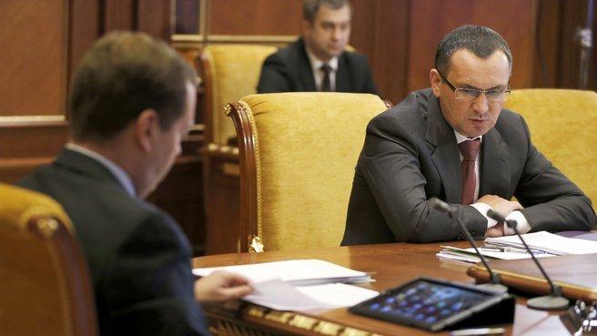 С главой Минсельхоза Николаем Фёдоровым