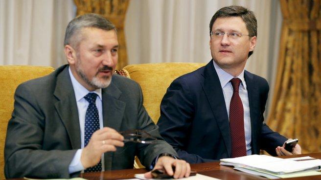 Руководитель Федеральной службы по тарифам Сергей Новиков и глава Минэнерго Александр Новак