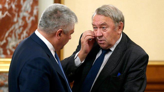 Глава МВД Владимир Колокольцев и президент Российской академии наук Владимир Фортов