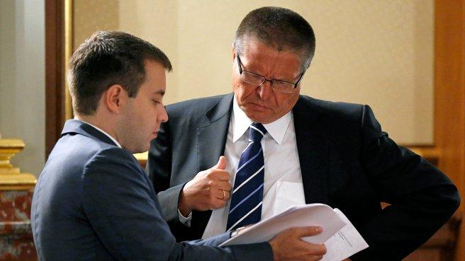 Глава Минкомсвязи Николай Никифоров и глава Минэкономразвития Алексей Улюкаев