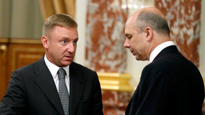 Глава Минобрнауки Дмитрий Ливанов и глава Минфина Антон Силуанов