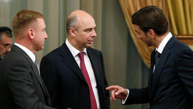 Глава Минобрнауки Дмитрий Ливанов, глава Минфина Антон Силуанов и Министр Михаил Абызов