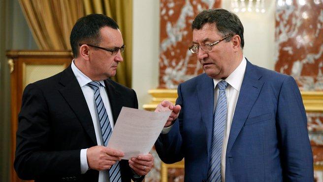 Глава Минсельхоза Николай Фёдоров и глава администрации Тамбовской области Олег Бетин