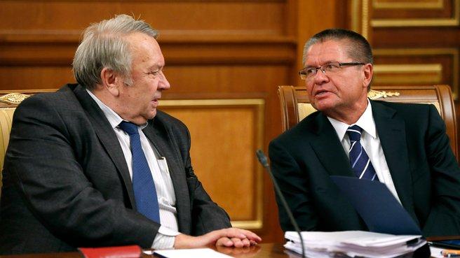 Президент Российской академии наук Владимир Фортов и глава Минэкономразвития Алексей Улюкаев