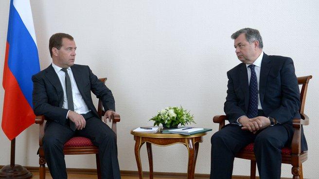Рабочая встреча с губернатором Калужской области Анатолием Артамоновым