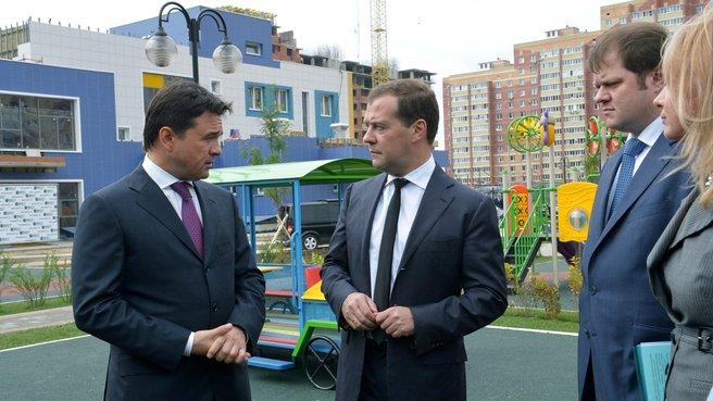 С временно исполняющим обязанности губернатора Московской области Андреем Воробьёвым