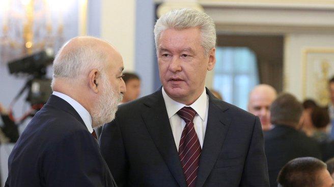 Президент фонда «Сколково» Виктор Вексельберг и временно исполняющий обязанности мэра Москвы Сергей Собянин