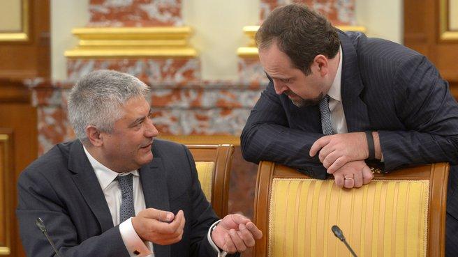 Глава МВД Владимир Колокольцев и глава Минприроды Сергей Донской