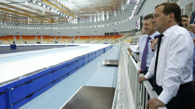 Осмотр конькобежного центра «Адлер-Арена»