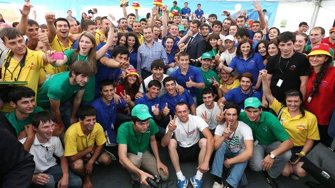 Посещение Северо-Кавказского молодёжного форума «Машук-2013»