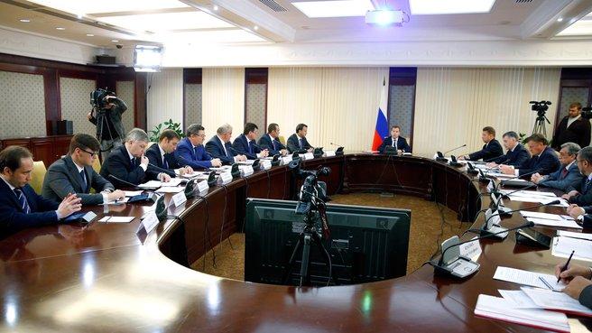 Совещание о ходе работ по газификации регионов Российской Федерации