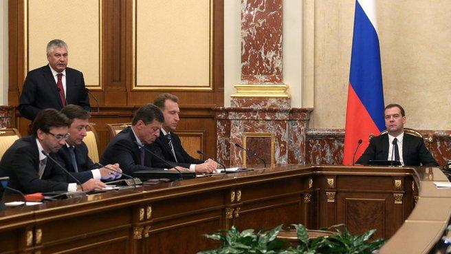 Доклад главы МВД Владимира Колокольцева на заседании Правительства