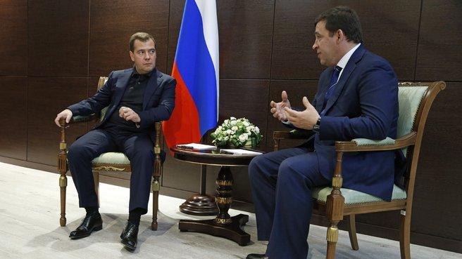 Беседа с губернатором Свердловской области Евгением Куйвашевым