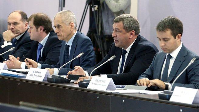 Доклад главы Минрегиона Игоря Слюняева на заседании президиума Совета по модернизации экономики и инновационному развитию России