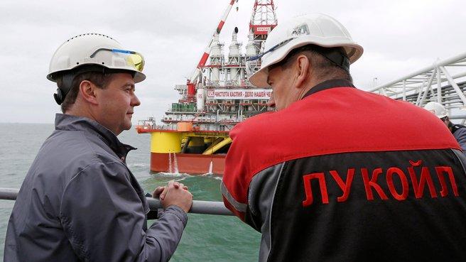 С генеральным директором ООО «Лукойл-Нижневолжскнефть» Николаем Ляшко