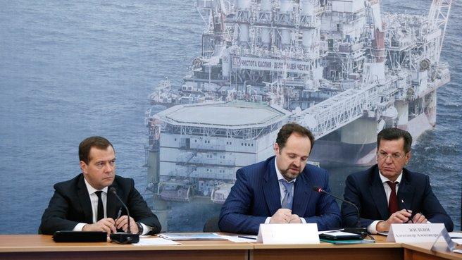 С главой Минприроды Сергеем Донским и губернатором Астраханской области Александром Жилкиным