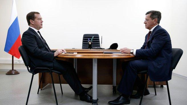Беседа с губернатором Астраханской области Александром Жилкиным