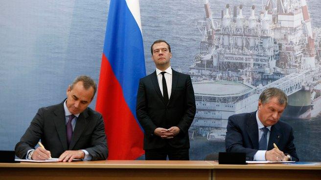 Подписание соглашения между НК «Роснефть» и Lundin Petroleum
